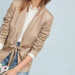 Gold sparkle Anthropologie blazer!